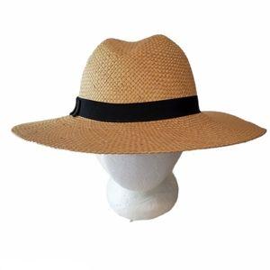Vintage Wide Brim Panama Fedora Hat